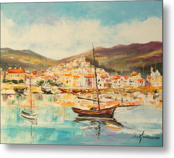 Mentone Harbour Metal Print