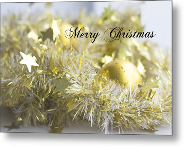 Metal Print featuring the photograph Merry Christmas by Jocelyn Friis