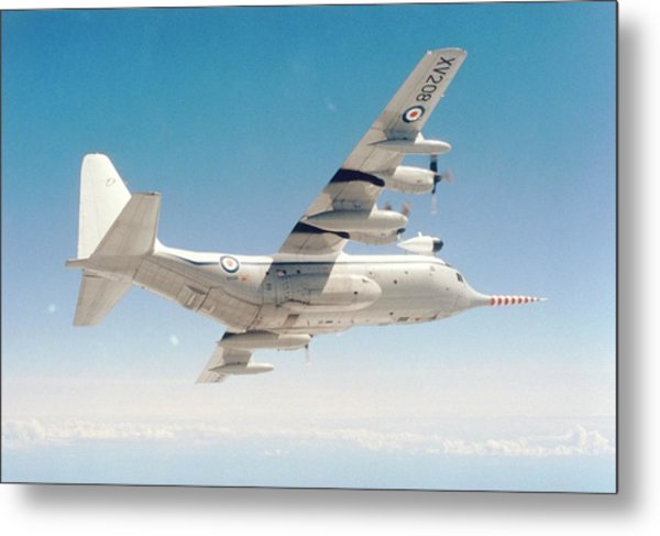 Met Office 'snoopy' Hercules Aircraft Metal Print by British Crown Copyright, The Met Office / Science Photo Library