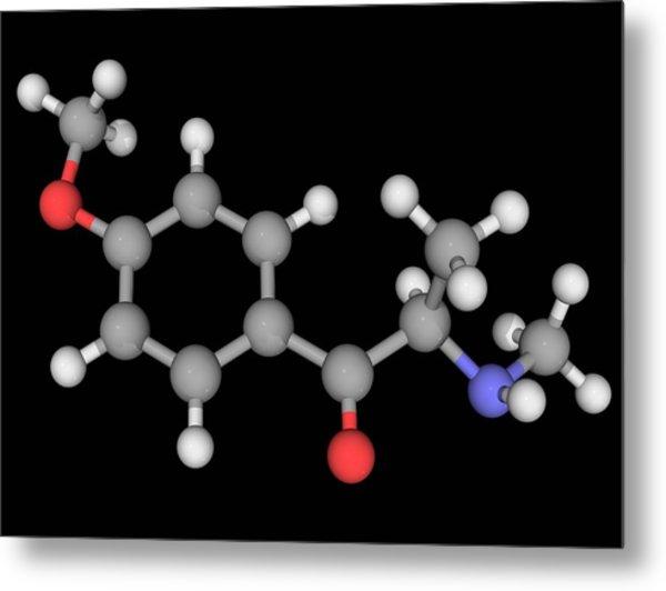 Methedrone Drug Molecule Metal Print by Laguna Design/science Photo Library