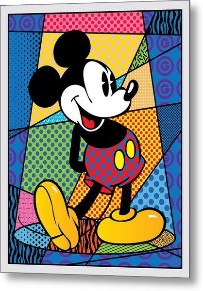 Mickey Spotlight Metal Print