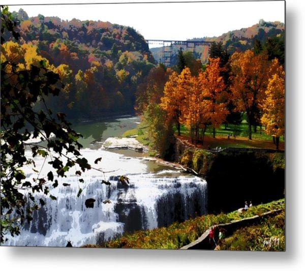 Middle Falls Letchworth State Park Metal Print