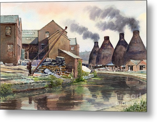 Middleport Pottery Metal Print by Anthony Forster
