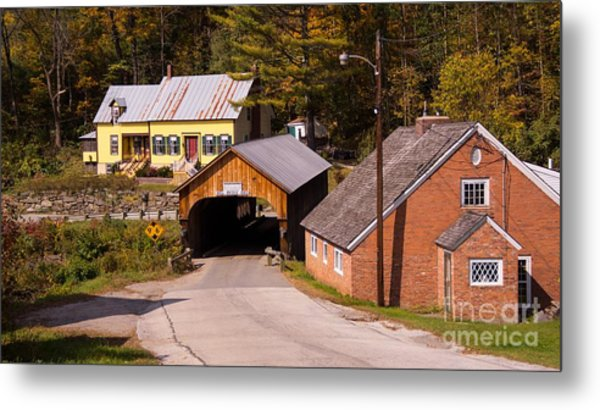 Mill Covered Bridge. Metal Print