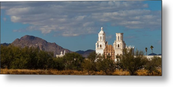 Metal Print featuring the photograph Mission San Xavier Del Bac by Ed Gleichman