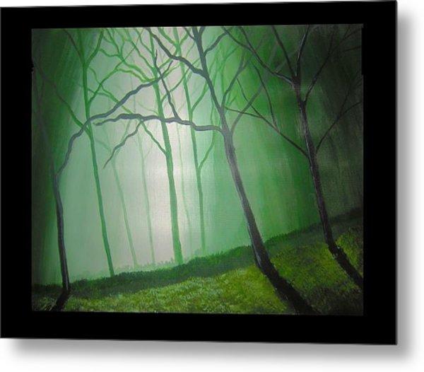 Misty Green Metal Print by Haleema Nuredeen