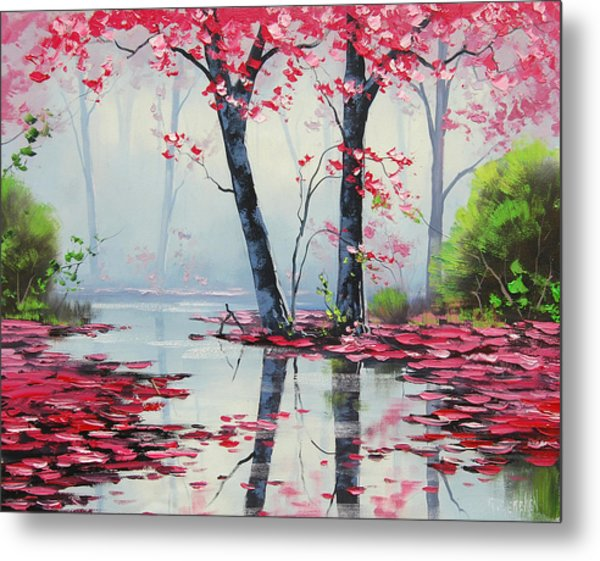 Misty River Metal Print