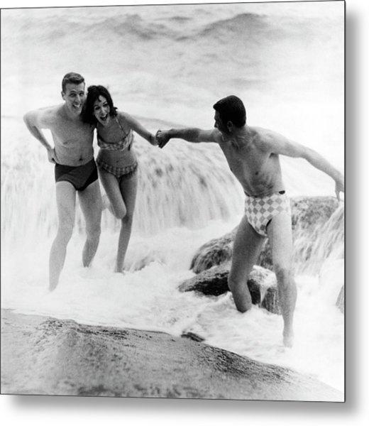 Models Wearing Swimwear Metal Print by Richard Waite