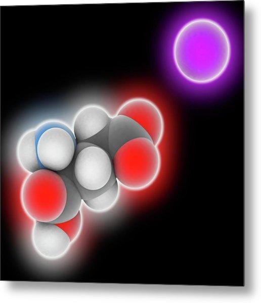 Monosodium Glutamate Molecule Metal Print by Laguna Design