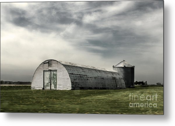 Montezuma Iowa - Farm  Metal Print by Gregory Dyer