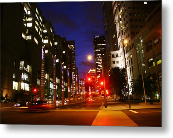 Montreal By Night Metal Print by Isabel Poulin