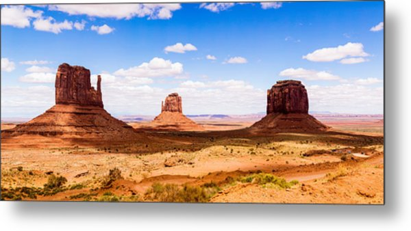 Monument Valley Panorama Metal Print