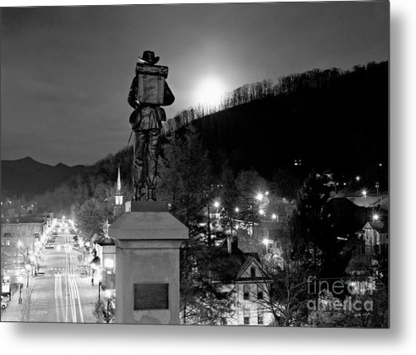 Moon Over Sylva 2004 Metal Print