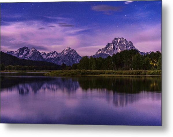 Moonlight Bend Metal Print