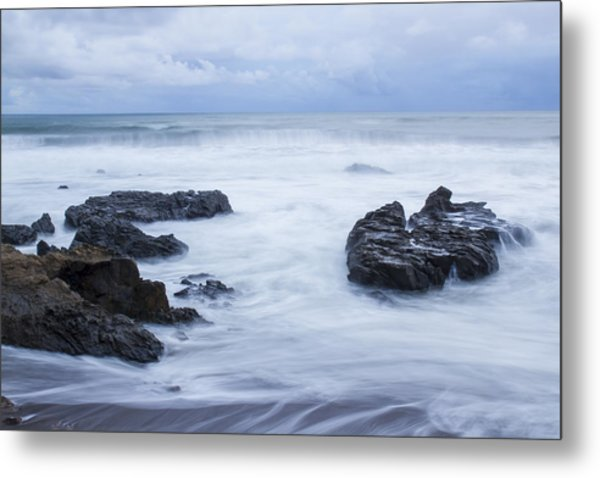 Moonstone Beach Surf 1 Metal Print
