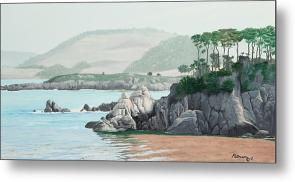 Morning At Point Lobos Metal Print