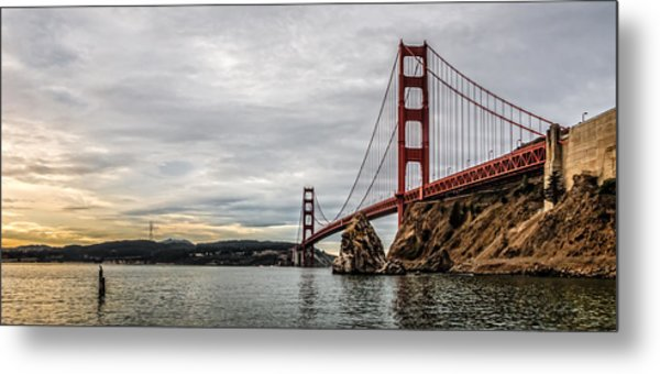 Morning Gold On The Golden Gate Metal Print