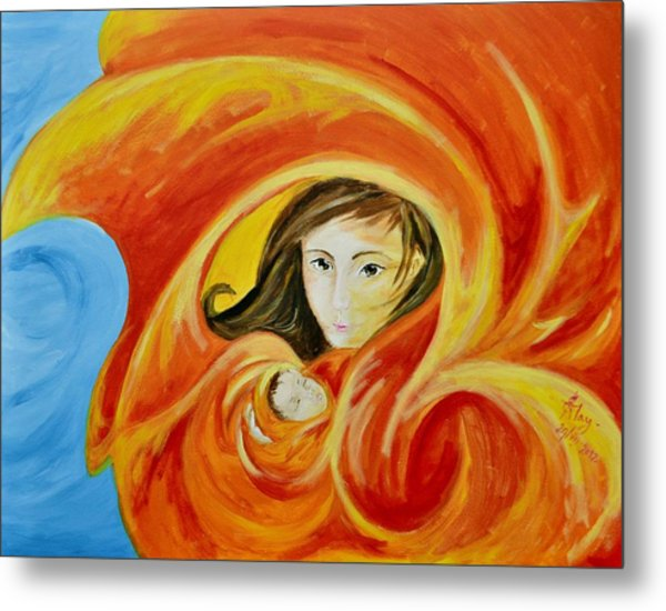 Mother's Warmth Metal Print