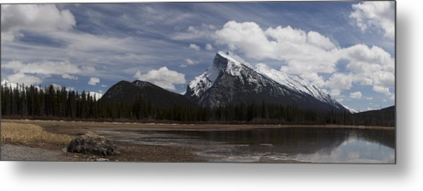 Mount Rundle And Vermilion Lake Metal Print