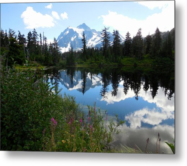 Mount Shuksan Reflection Metal Print