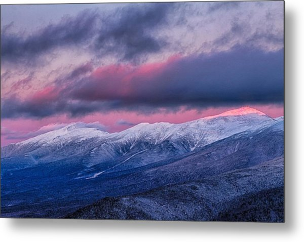 Metal Print featuring the photograph Mount Washington Summit In The Alpenglow by Jeff Sinon
