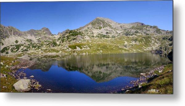 Mountain And Lake Metal Print by Ioan Panaite