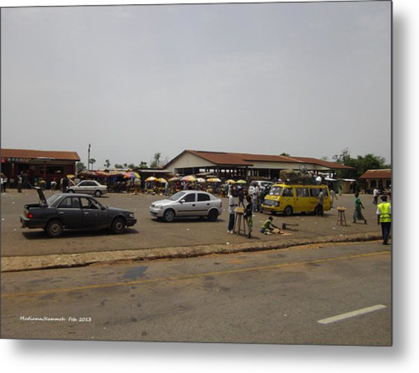 Moyamba Junction-markets Metal Print