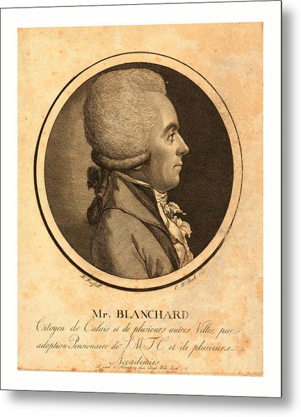 Mr. Blanchard, Living In Calais Metal Print by French School