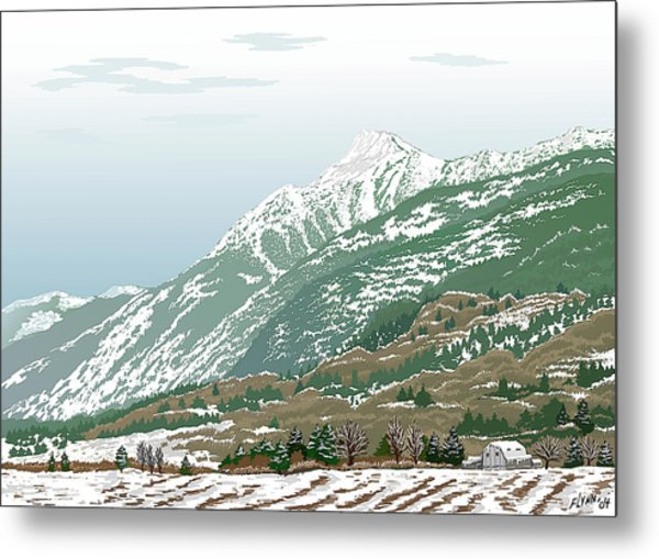 Mt Cheam In Winter Metal Print