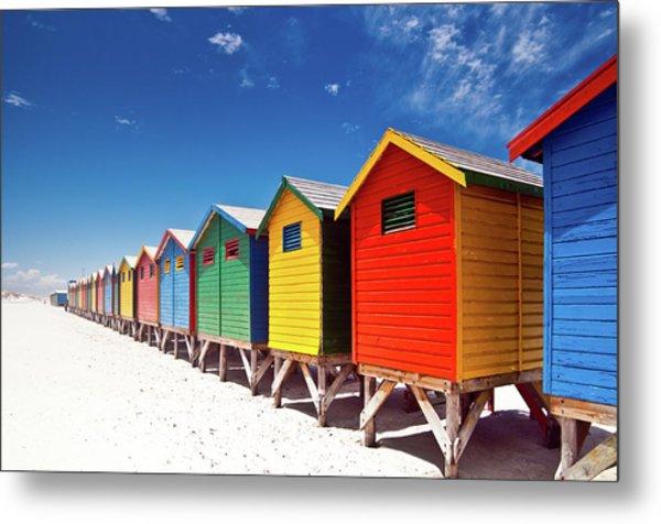 Muizenberg Beach Cape Town Metal Print by Ferrantraite