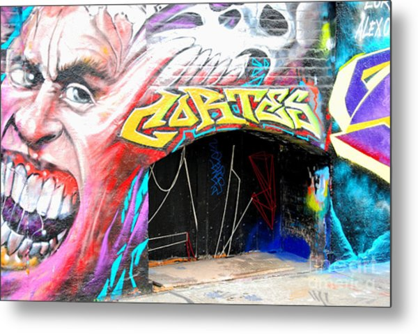 Mural With Teeth Metal Print by Andrea Simon