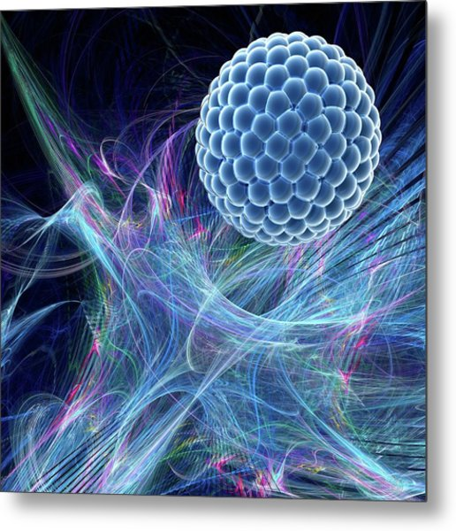 Nanoparticle Metal Print by Laguna Design/science Photo Library