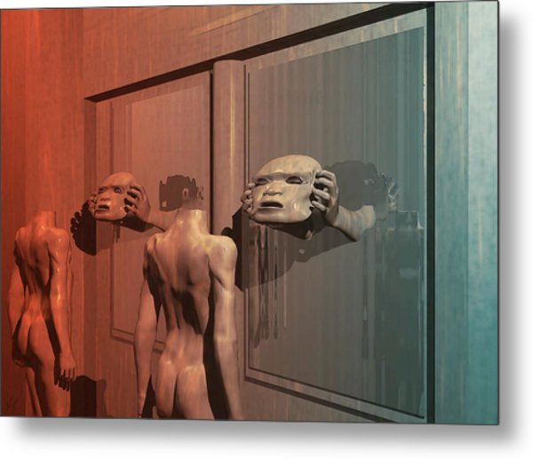 New Faces Metal Print
