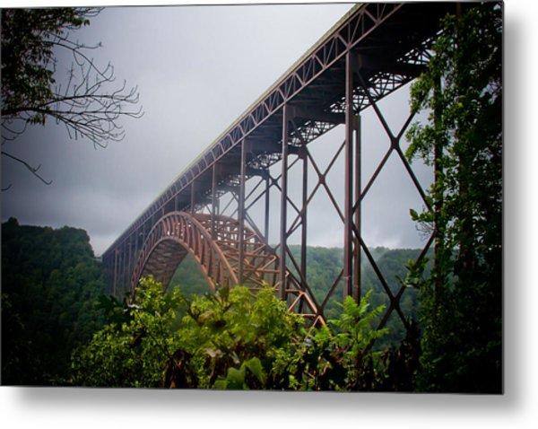 New River Bridge Metal Print