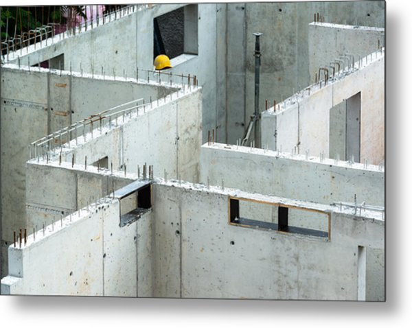 New Walls Being Erected On A Construction Site Metal Print