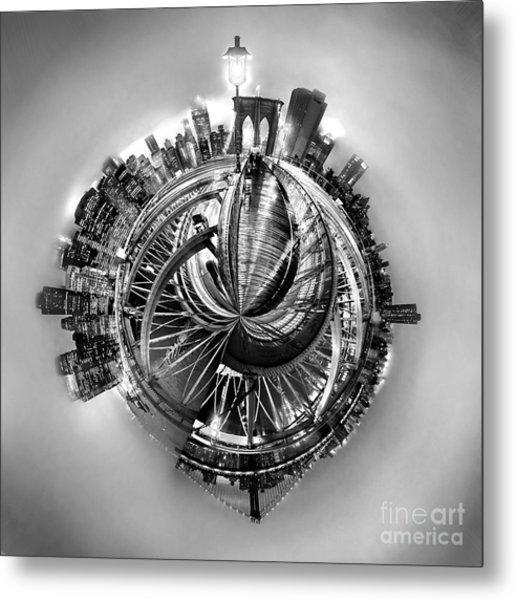 Manhattan World Metal Print
