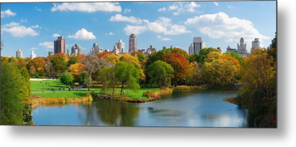 New York City Manhattan Central Park Panorama Metal Print