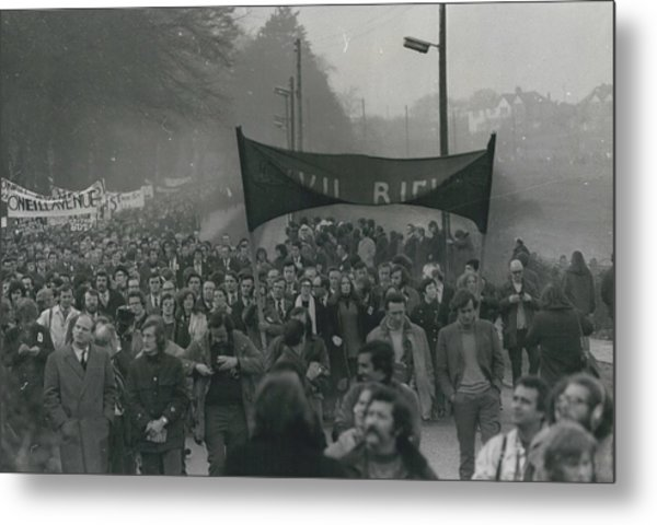 Newry March Passes Off Peacefully Metal Print by Retro Images Archive