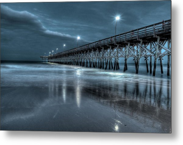 Nighttime At The Pier Metal Print