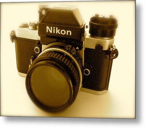 Nikon F2 Classic Camera Metal Print