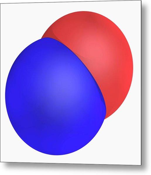 Nitrogen Monoxide Molecule Metal Print by Laguna Design/science Photo Library