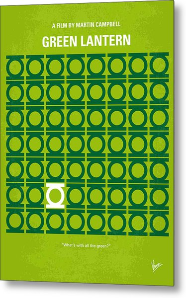 No120 My Green Lantern Minimal Movie Poster Metal Print