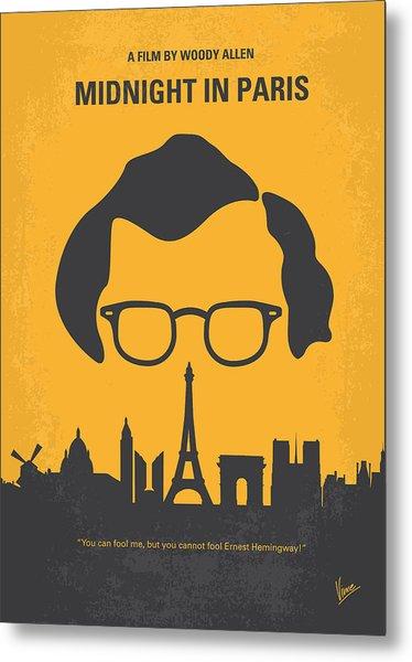No312 My Manhattan Minimal Movie Poster Metal Print