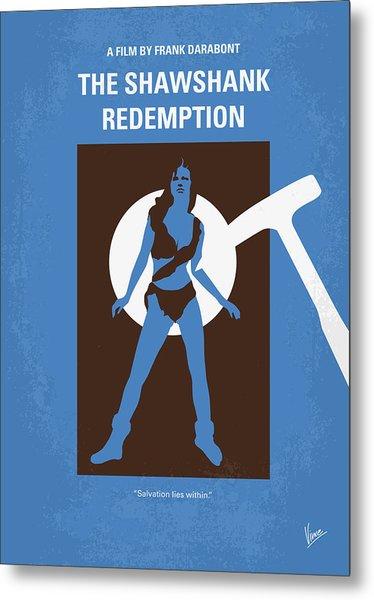 No246 My The Shawshank Redemption Minimal Movie Poster Metal Print