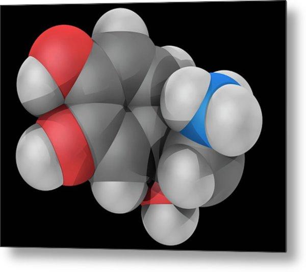 Norepinephrine Molecule Metal Print by Laguna Design/science Photo Library