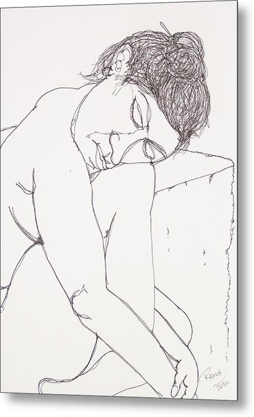 Nude At Rest Metal Print