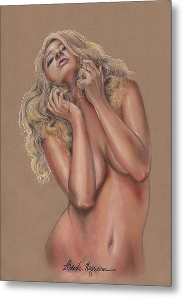 Nude Metal Print by Leida Nogueira
