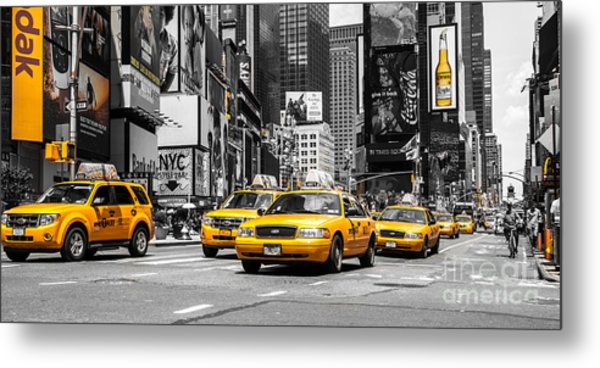 Nyc Yellow Cabs - Ck Metal Print