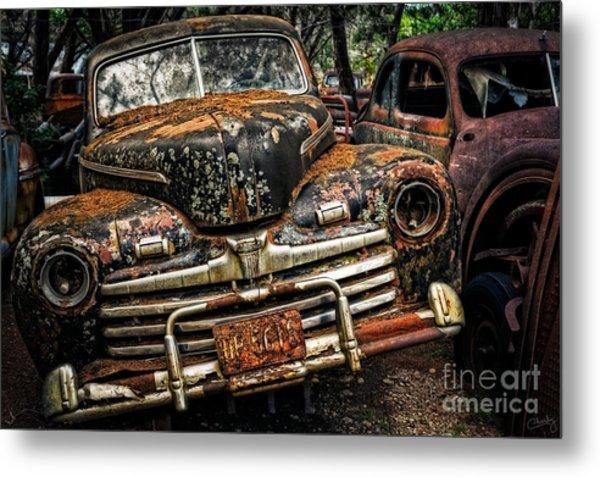 Old Rusty Ford Metal Print