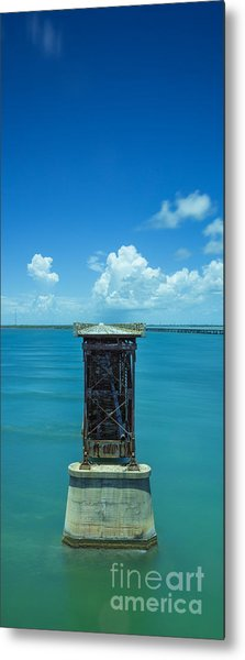 Old Bahia Honda Bridge Florida Keys Metal Print